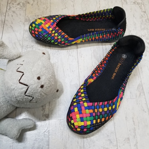 bernie mev. Shoes - Bernie Mev Braided Rainbow Catwalk Ballet Flat -40